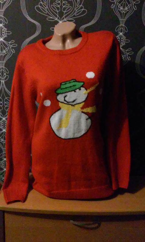 Новогодний свитер. удлинённый