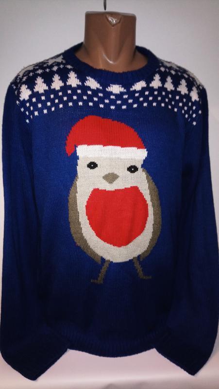 Новогодний свитер со снегирём