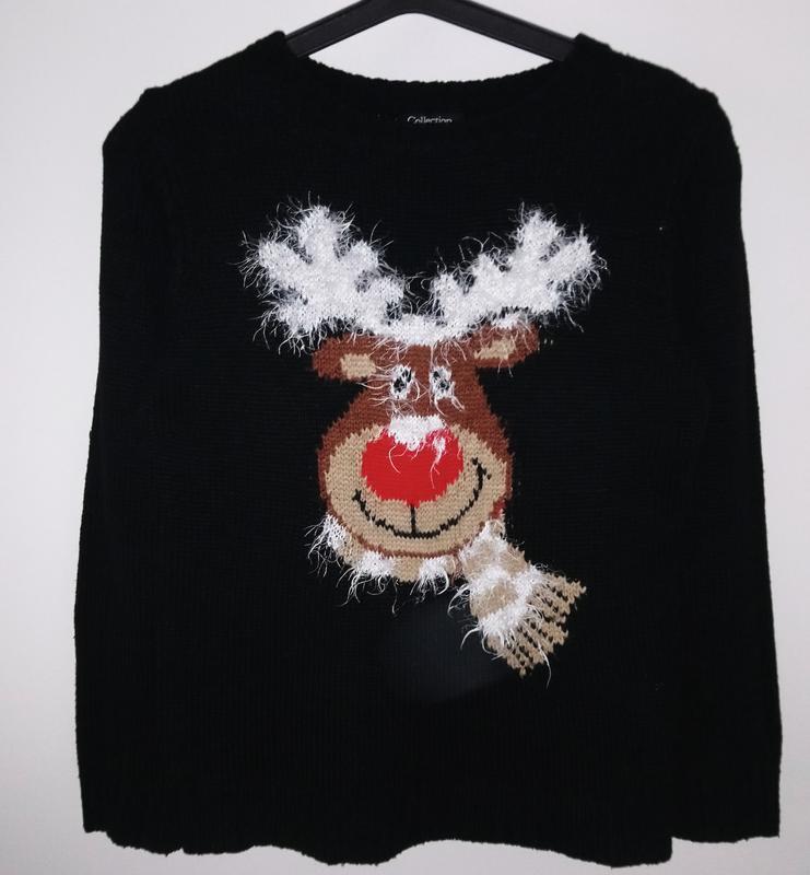 Зд новогодний свитер .