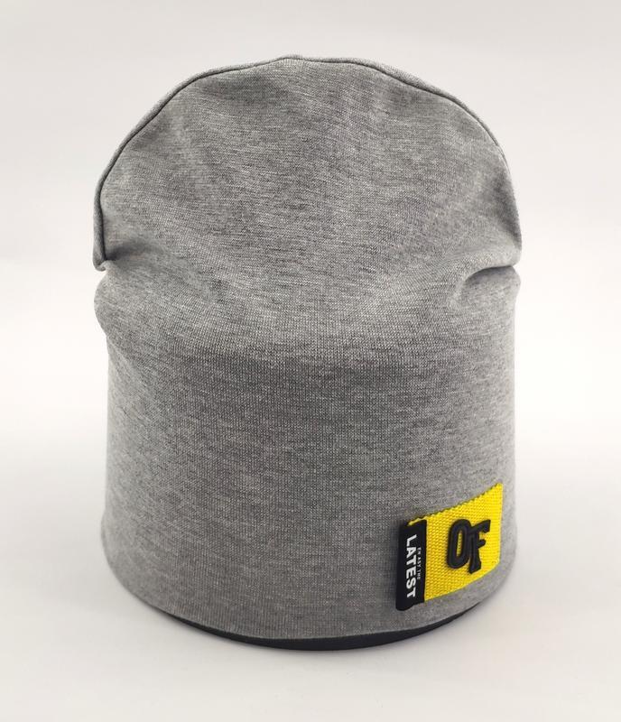 Детская шапка трикотажная двойная 50 по 55 размер весна-осень