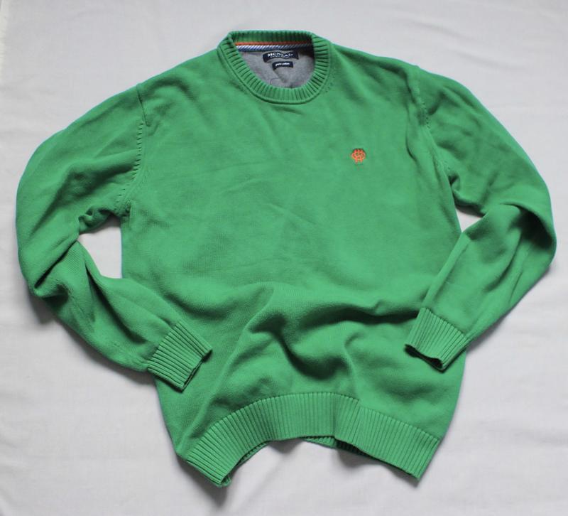 Яркий мужской котоновый свитер размер м
