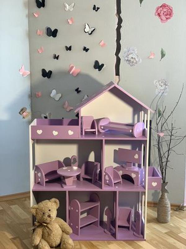 Кукольный домик для Барби Лол Дом для кукол Мебель детская - Фото 2