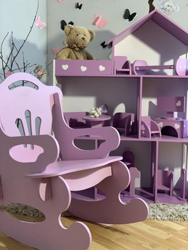 Кукольный домик для Барби Лол Дом для кукол Мебель детская - Фото 3