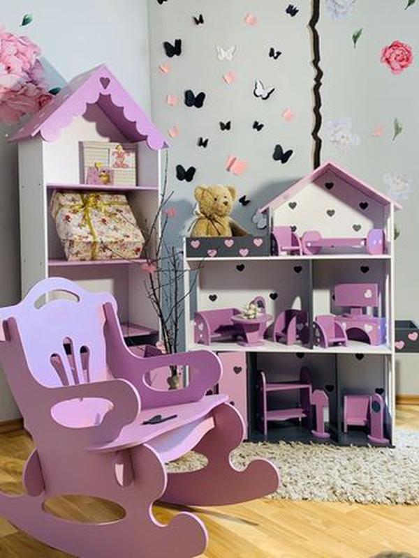 Кукольный домик для Барби Лол Дом для кукол Мебель детская - Фото 7