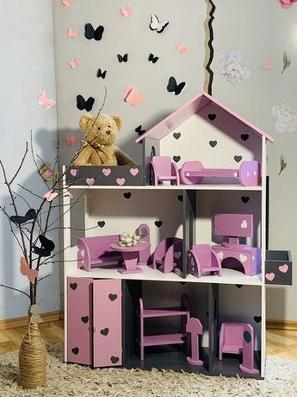Кукольный домик для Барби Лол Дом для кукол Мебель детская - Фото 8