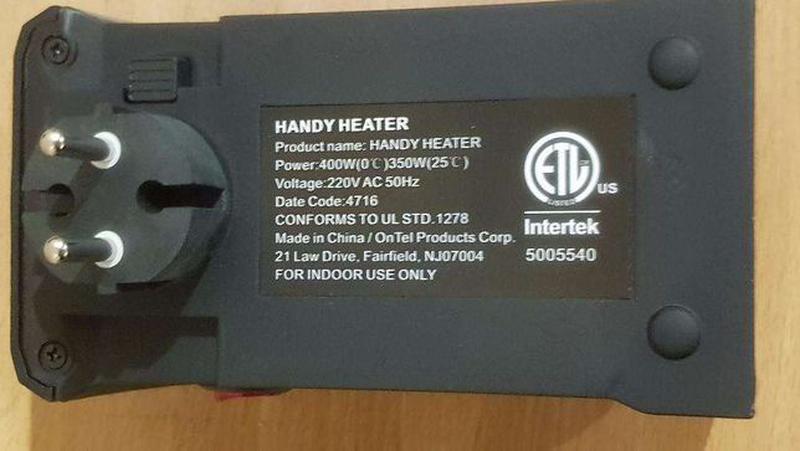 Обогреватель керамика тепловентилятор Handy Heater печка тепли... - Фото 3