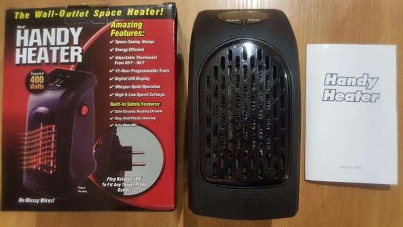 Обогреватель керамика тепловентилятор Handy Heater печка тепли... - Фото 5
