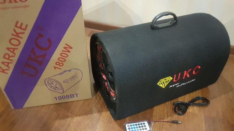 Колонка беспроводная Сабвуфер Bluetooth FM 1008BT 12 и 220В 18... - Фото 7