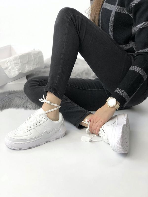 Nike air force 1 low white - Фото 3