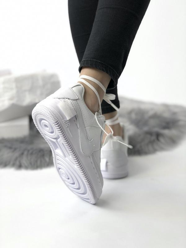 Nike air force 1 low white - Фото 4