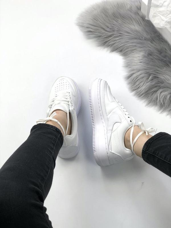 Nike air force 1 low white - Фото 5