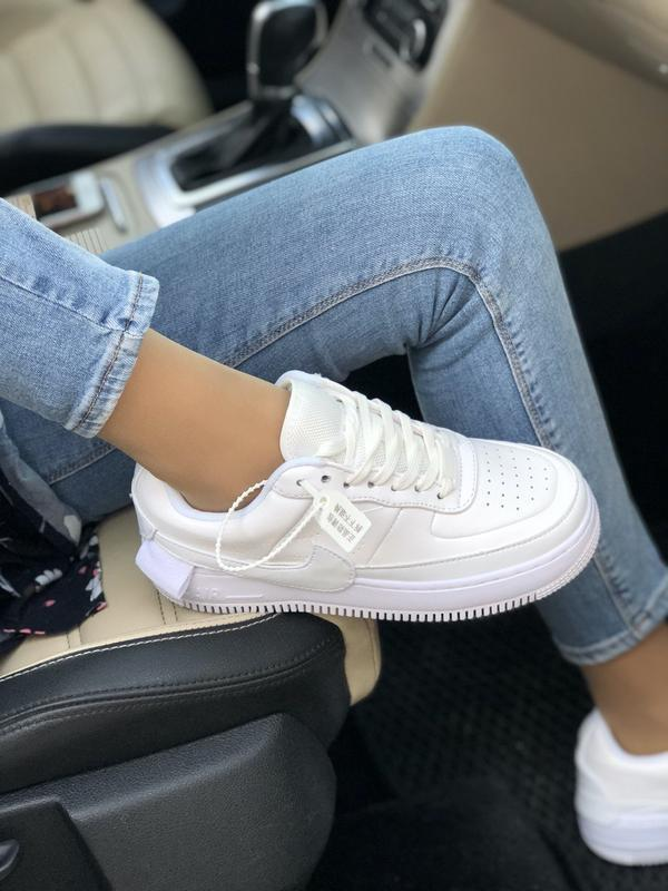 Nike air force 1 low white - Фото 8