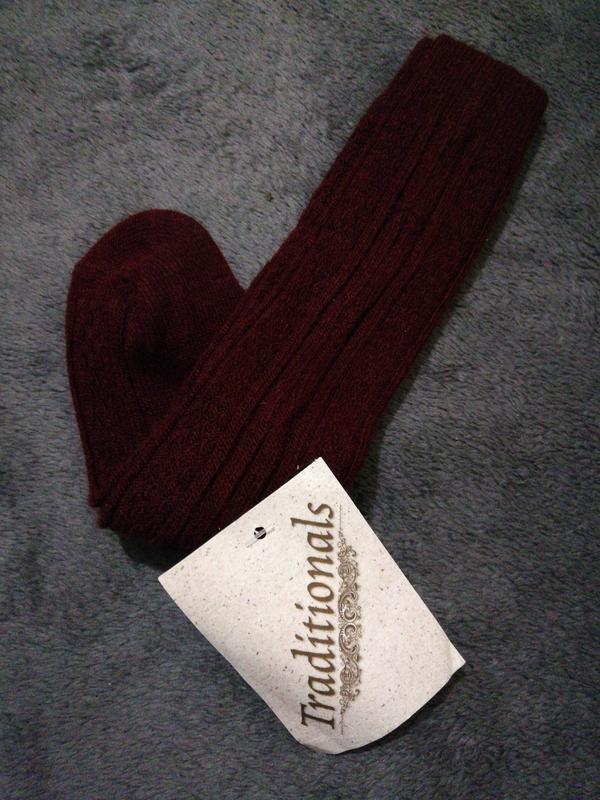 Утепленные высокие носки гольфы средней плотности - Фото 2