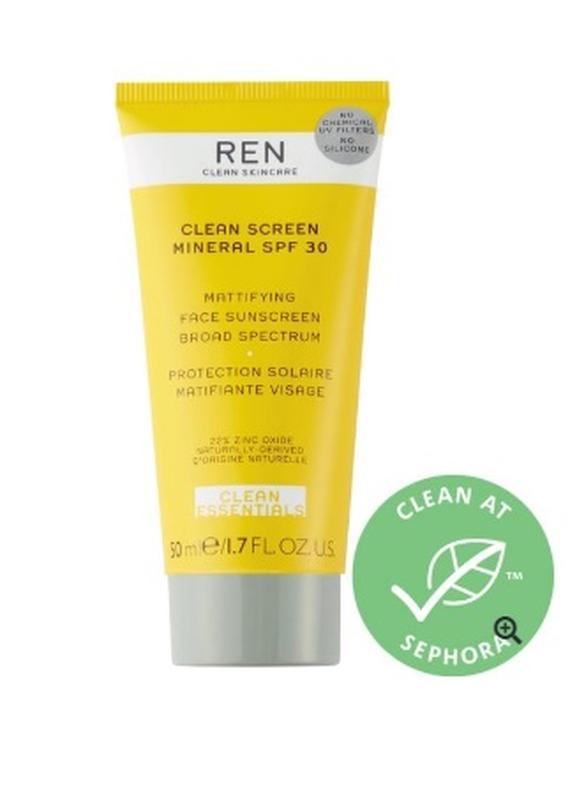 Ren clean screen mineral spf 30 матирующий солнцезащитный крем...