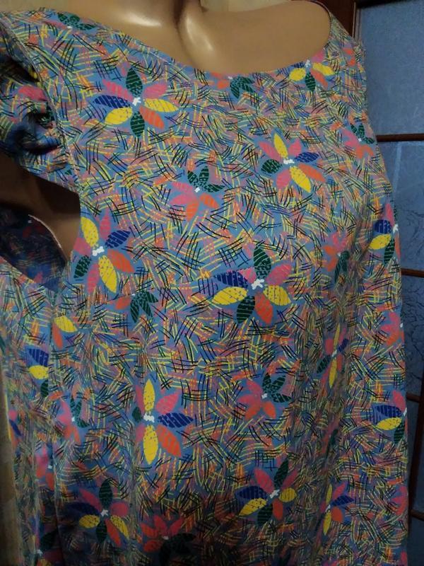 Симпатичное летнее платье, большого размера - Фото 3