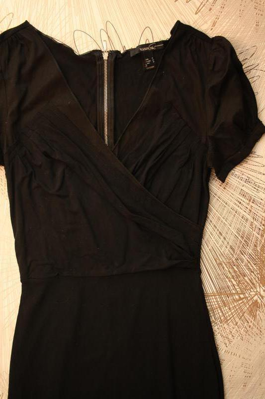 Отличное платье, трикотаж джерси + хлопковые вставки, сзади по... - Фото 2