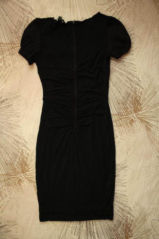 Отличное платье, трикотаж джерси + хлопковые вставки, сзади по... - Фото 3
