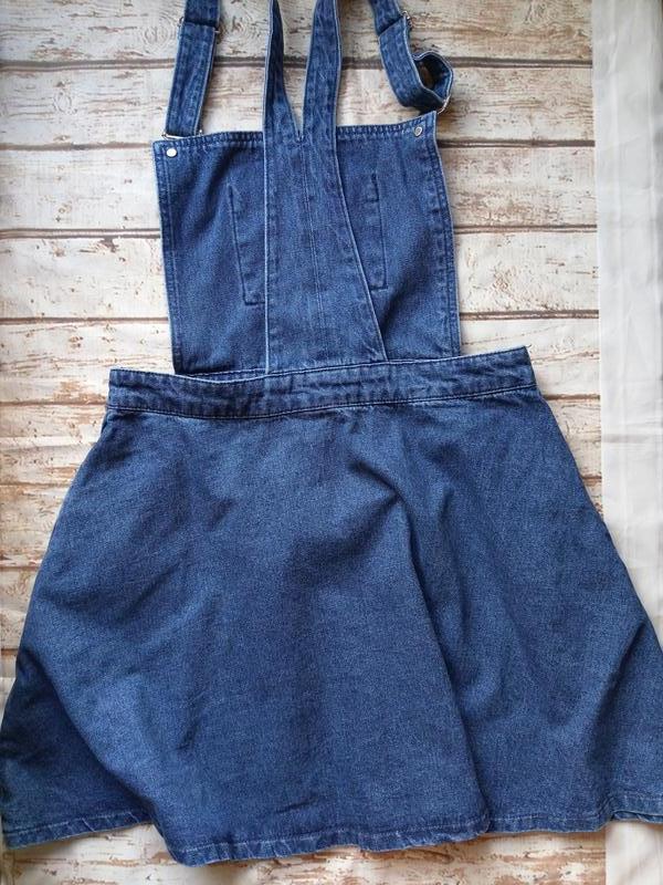 Классный джинсовый сарафан комбинезон - Фото 2
