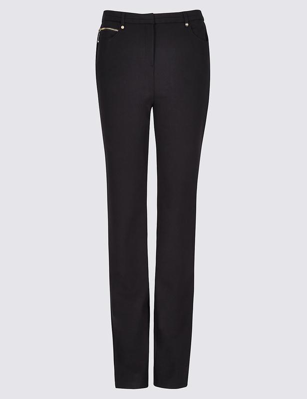 Очень качественные плотные брюки прямого кроя per una,72% виск...