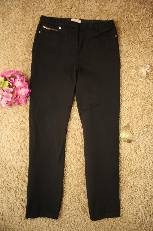 Очень качественные плотные брюки прямого кроя per una,72% виск... - Фото 2