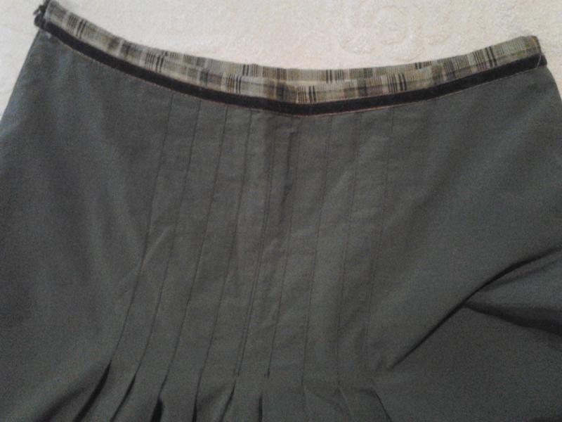 Летняя юбка цвета хакки - Фото 2