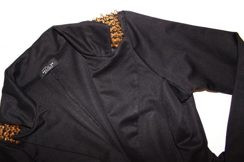Крутой пиджак жакет а-ля с баской и шипами / buzy collection, m/l - Фото 5