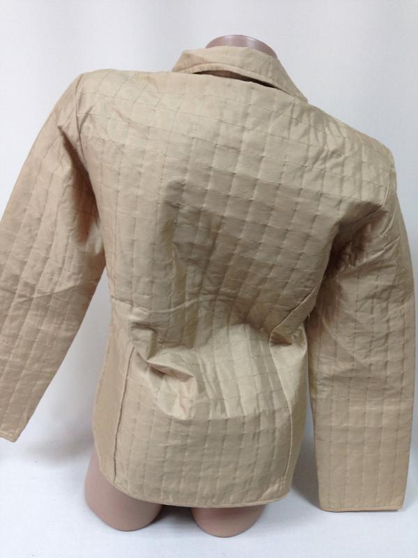 Куртка ветровка пиджак жакет стеганая плащевка беж на замке / м - Фото 3
