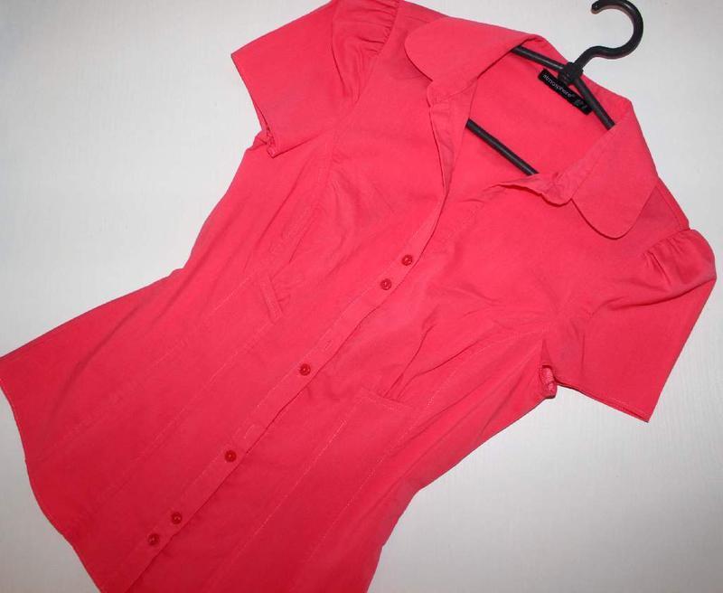 Блуза рубашка корал рукава - фонарики, 8/36 - Фото 5