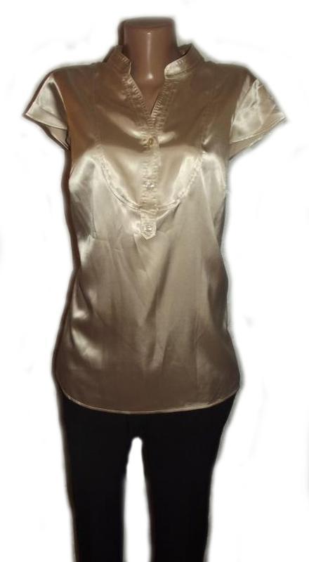 Блуза рубашка атлас бежевая autograph. большой размер - 20