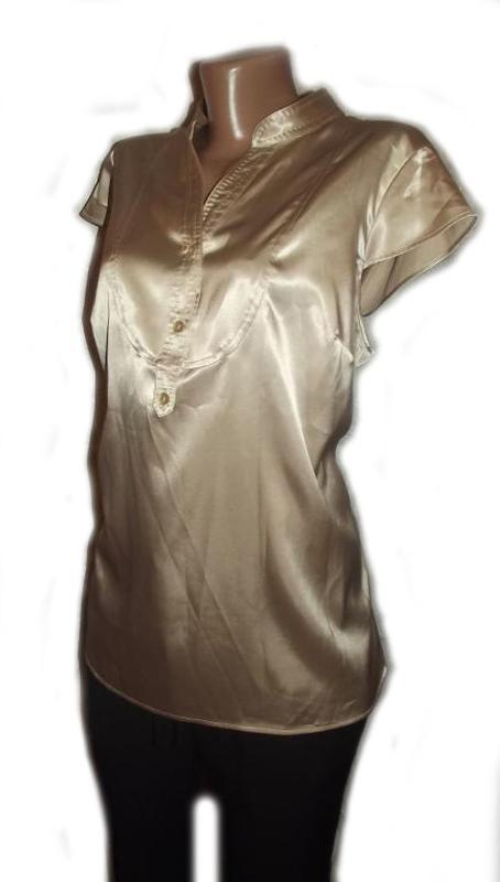 Блуза рубашка атлас бежевая autograph. большой размер - 20 - Фото 2