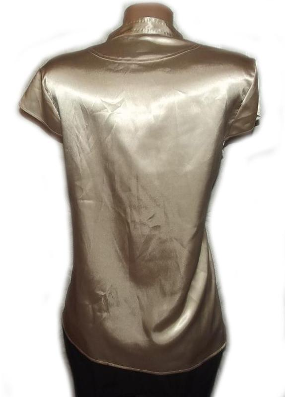 Блуза рубашка атлас бежевая autograph. большой размер - 20 - Фото 3
