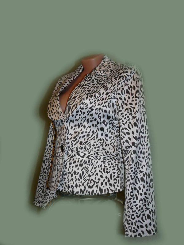 Пиджак классика chic в леопардовый принт, швеция - Фото 2