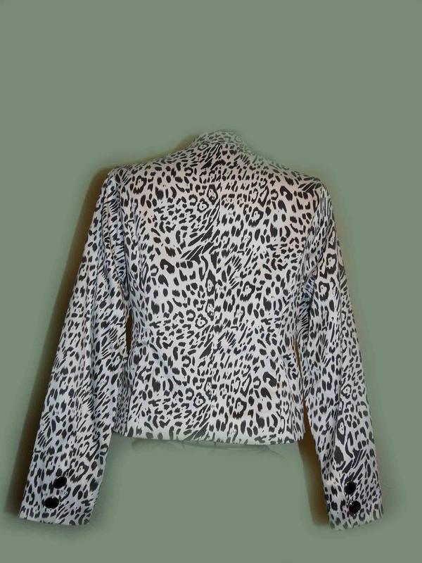 Пиджак классика chic в леопардовый принт, швеция - Фото 3