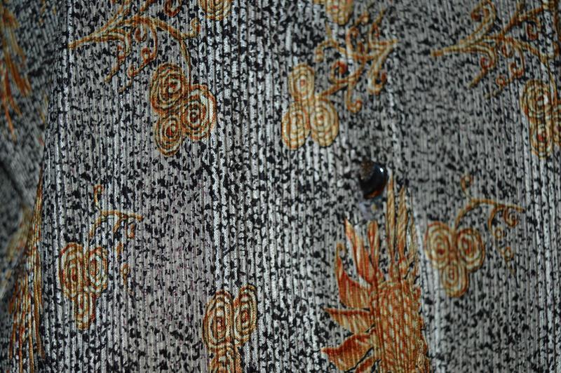 Блуза рубашка кофточка вертикальная жатка-гофре с красивым рис... - Фото 5