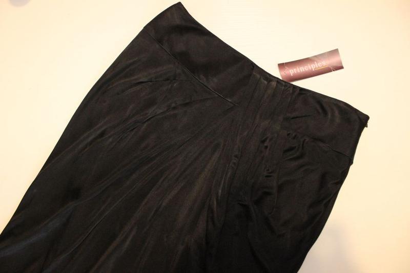 """Юбка карандаш черная летняя с красивой драпировкой """"тюльпан"""", ... - Фото 4"""