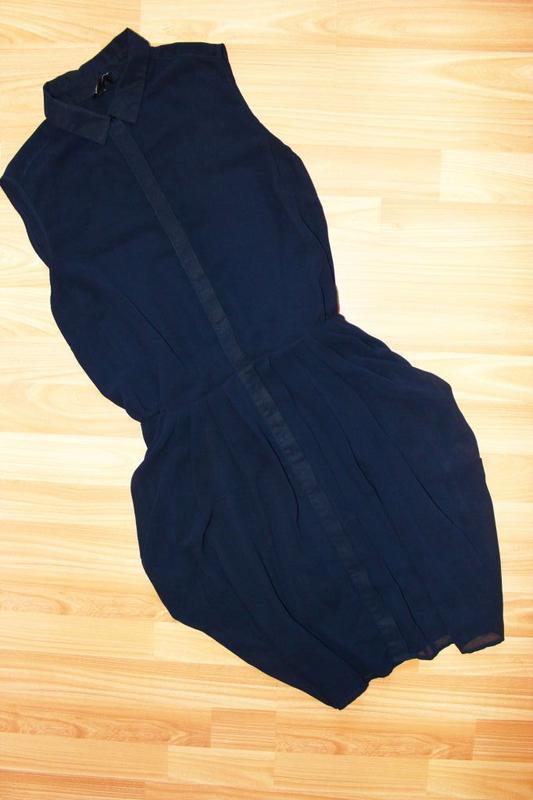 Платье - рубашка / юбка складками - тюльпан, румыния, 10/38 - Фото 4