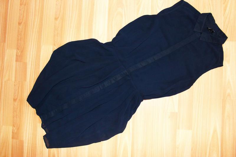 Платье - рубашка / юбка складками - тюльпан, румыния, 10/38 - Фото 5