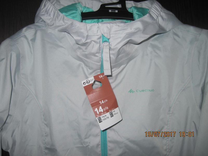 Куртка ветровка quechua hike 500 рост 155-160 14 лет - Фото 2