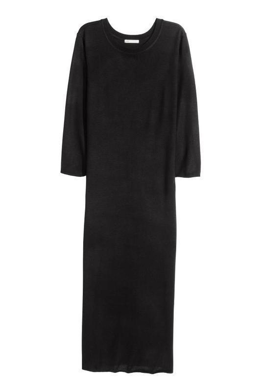Базовое черное платье миди