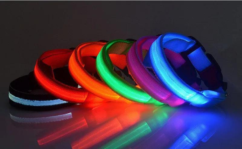 Ошейник LED светящийся узкий для небольших собак и кошек 0.5 м - Фото 2