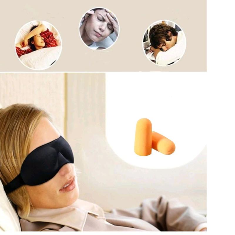 Удобная маска для сна + беруши. Отличный набор для сна.