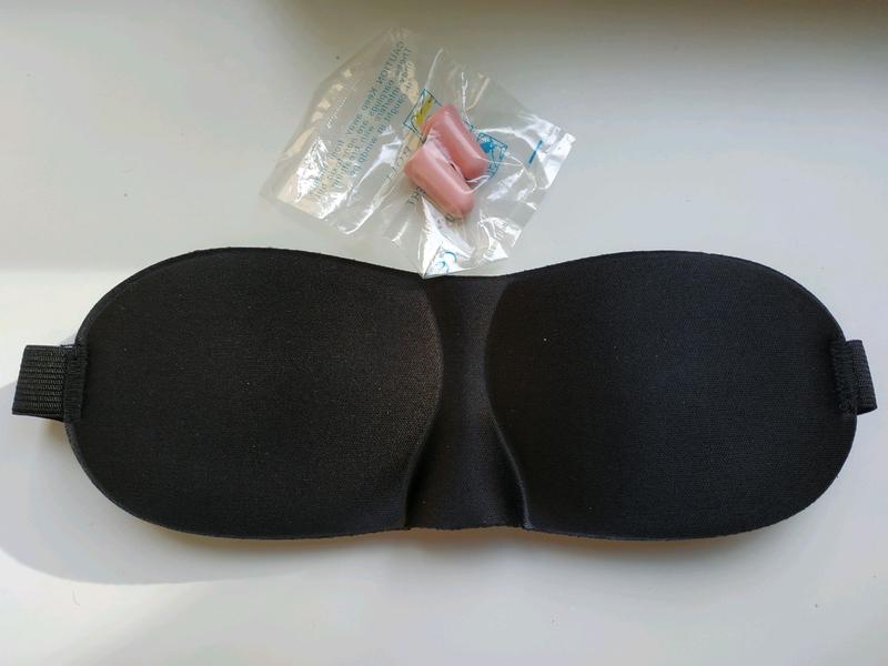 Удобная маска для сна + беруши. Отличный набор для сна. - Фото 2