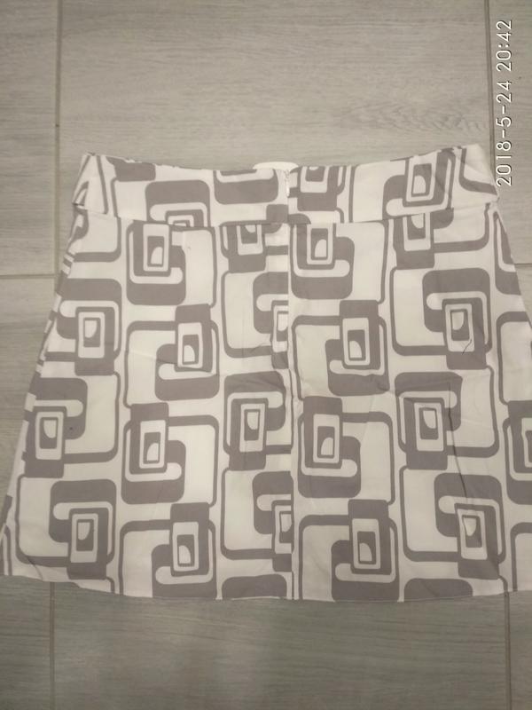 Летняя белая, фирменная юбка 44-46р. (orsay)