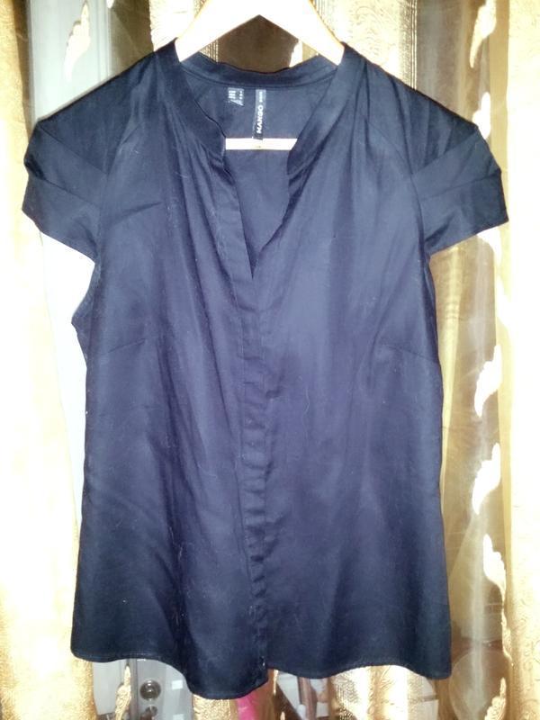 """Стильная рубашка /интересный фасон """"mango basic"""",original!"""