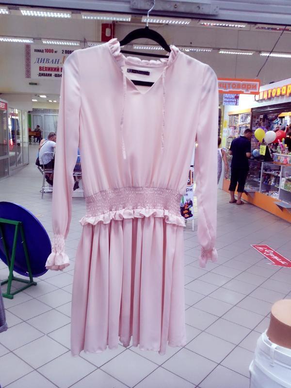 Милейшие пудровое платье!тренд сезона/лето 2019!s/m