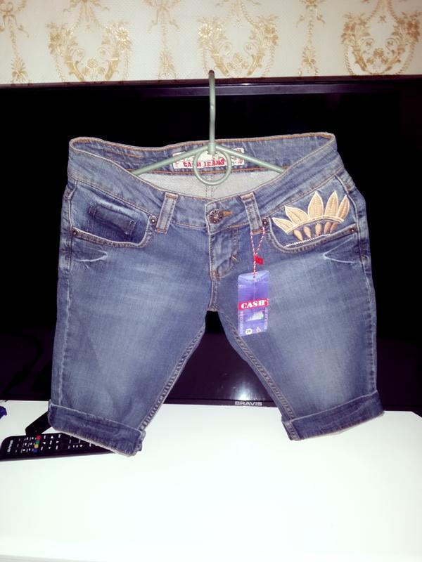 """Крутейшие джинсовые шорты/капри """"cash jeans"""",w/26!"""
