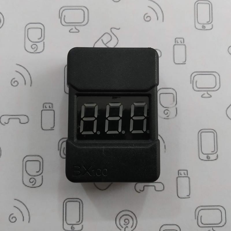 Сигнализатор разряда аккумулятора 1S-8S Li-Po, Li-ion, пищалка, B