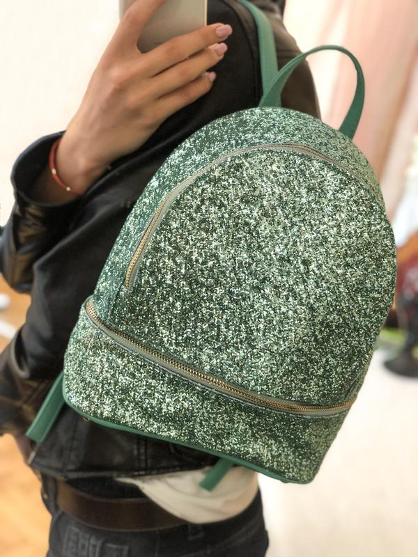 Яскравий рюкзак з гліттером