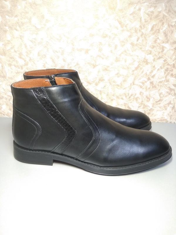 Классические зимние ботинки - натуральная кожа!