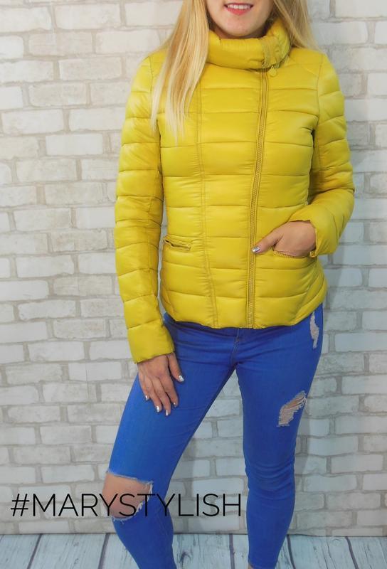 Куртка косуха, желтый/горчица - Фото 2